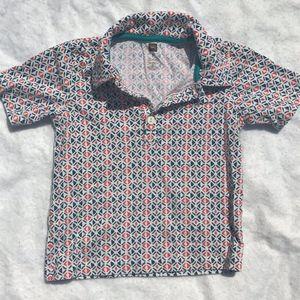 Tea Collection Short Sleeve Polo, Size 3